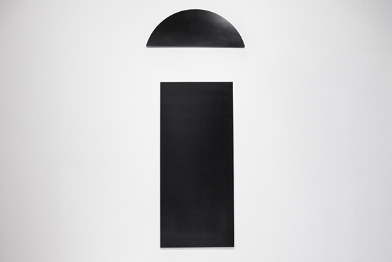 Aperture lamp black acrylic paint on aluminum belenius nordenhake stockholm 2015